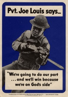 Joe Louis recruiting poster